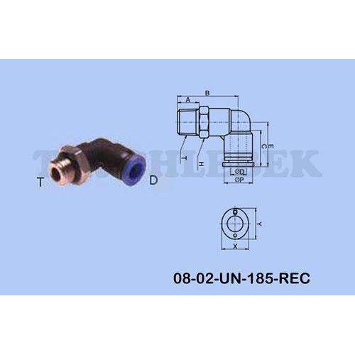 Ātrais savienojums plastmasas d-10MM-90*/ M16X1.5